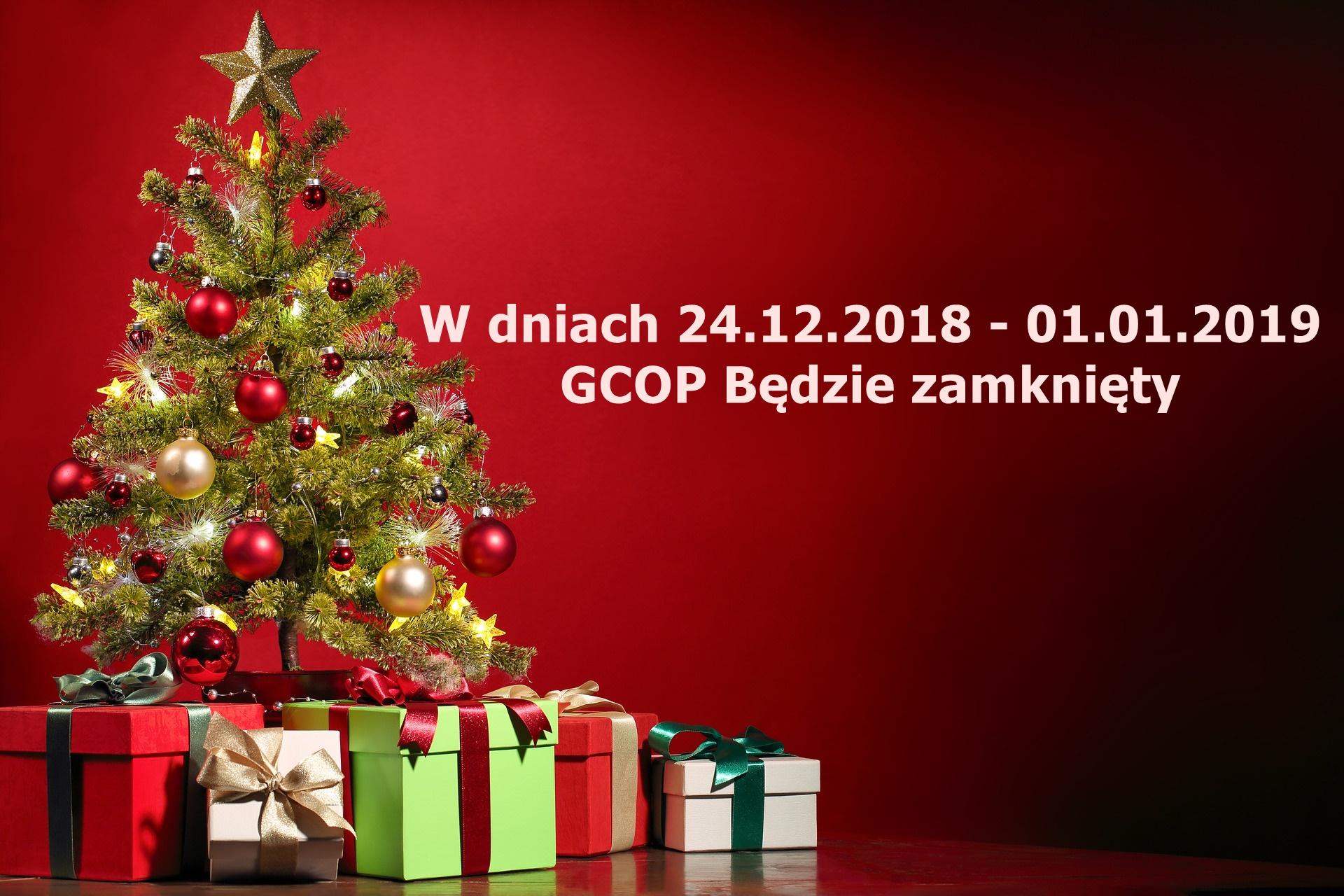 W dniach od 24.12.2018r. do 01.01.2019 r. Gdyńskie Centrum Organizacji Pozarządowych będzie nieczynne.