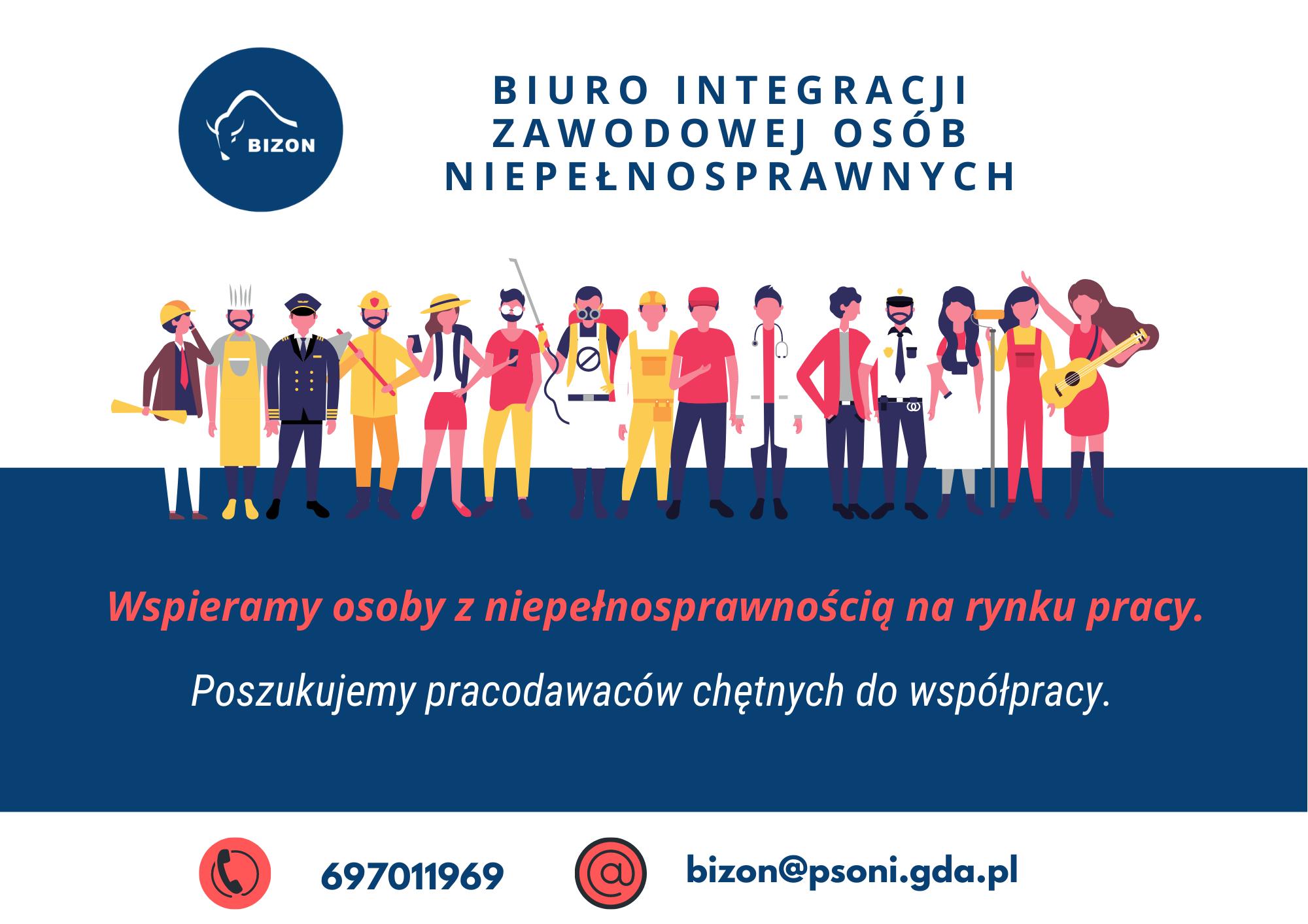 Biuro Integracji Zawodowej Osób Niepełnosprawnych poszukuje miejsc, gdzie uczestnicy projektów mogliby odbywać bezpłatne próbki pracy oraz praktyki !