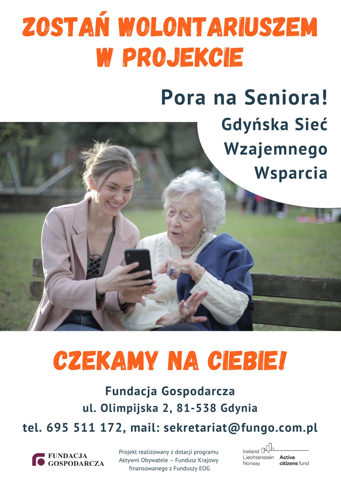 PORA NA SENIORA! GDYŃSKA SIEĆ WZAJEMNEGO WSPARCIA – oferta wolontariatu w nowym projekcie Fundacji Gospodarczej